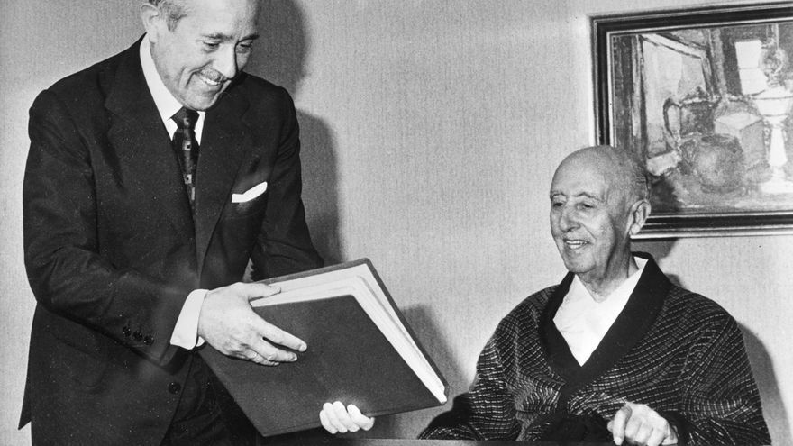 Arias Navarro, con Franco.