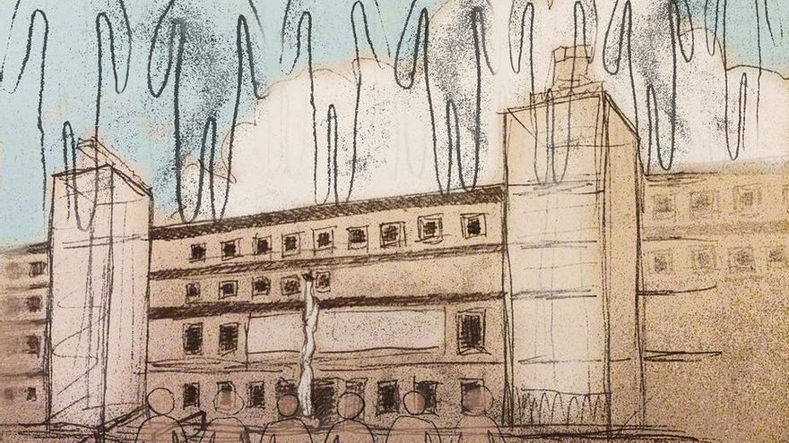 Ilustración del MNCARS por Cristina Nualart, 2018