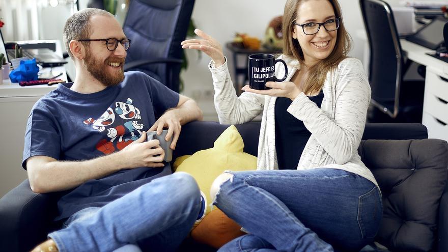 Álvaro Gutiérrez y Valeria Castro, cofundadores de Platonic Games