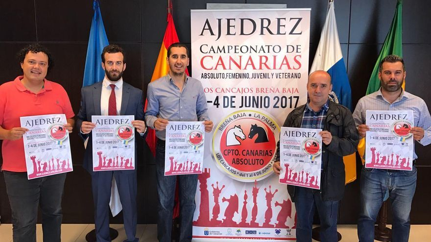 Acto de presentación del Campeonato de Canarias de Ajedrez que se celebrara en Breña Baja.