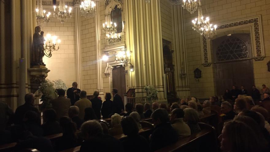 Misa en honor a Franco y a Primo de Rivera en la iglesia San Fermín de los Navarros de Madrid