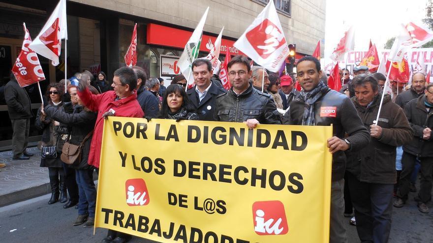 Manifestación por los derechos de los trabajadores, Albacete / Foto: IU Daimiel