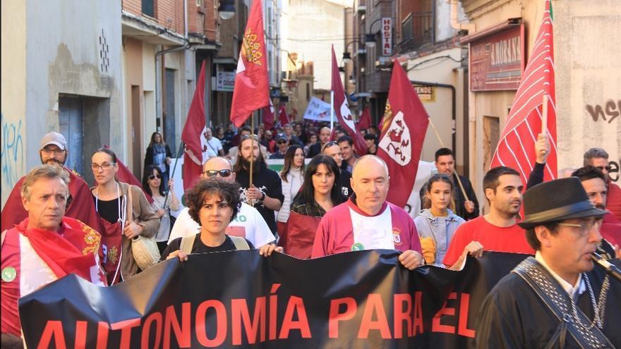 Manifestación reivindicativa por la autonomía para la Región Leonesa celebrada en 2018
