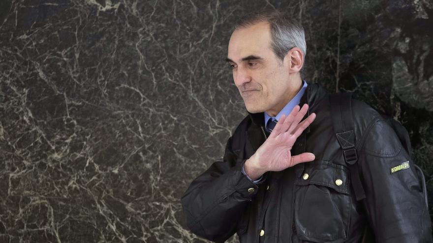 El fiscal Alejandro Luzón, a la salida de la Audiencia Nacional.