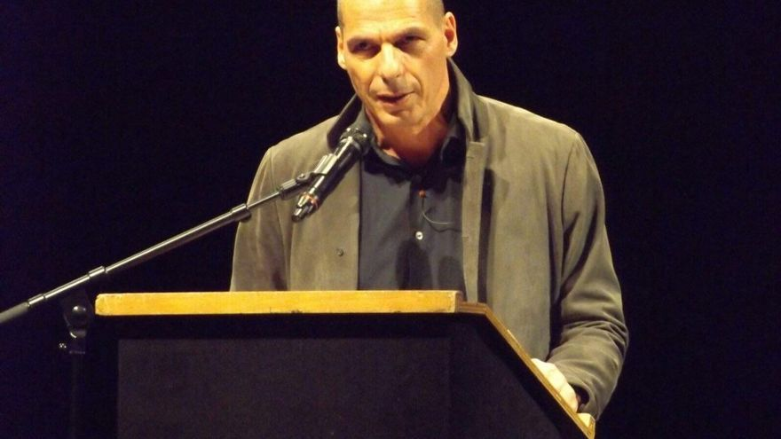 Yanis Varoufakis durante la presentación de @DieM25