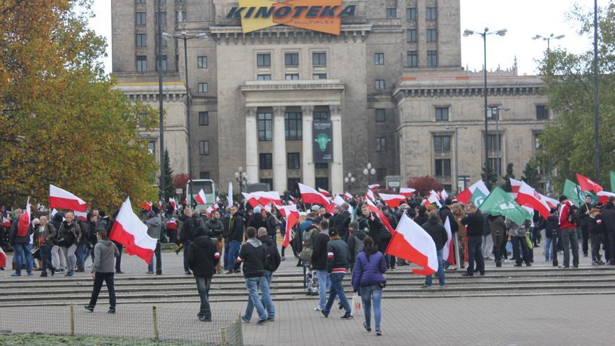 """""""Marcha Patrótica"""" en Varsovia, organizada por grupos de extrema derecha / Marta Alemany"""