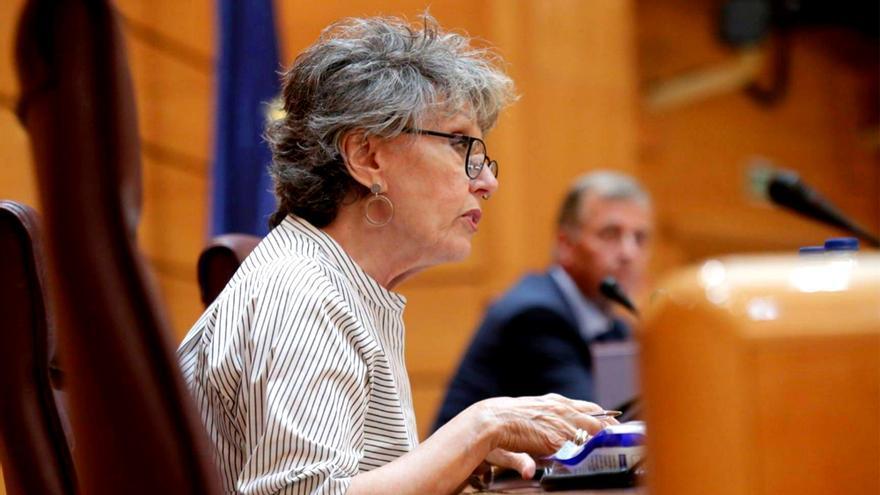 Rosa María Mateo, en el Senado
