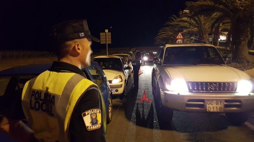 En la imagen, un control de la Policía Local de Canarias.