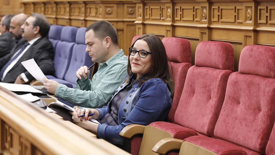 David Llorente y María Díaz de Podemos FOTO: Cortes Castilla-La Mancha
