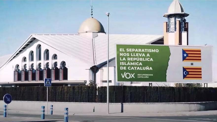 Imagen de la mezquita de Palafruguell que usa Vox en su vídeo