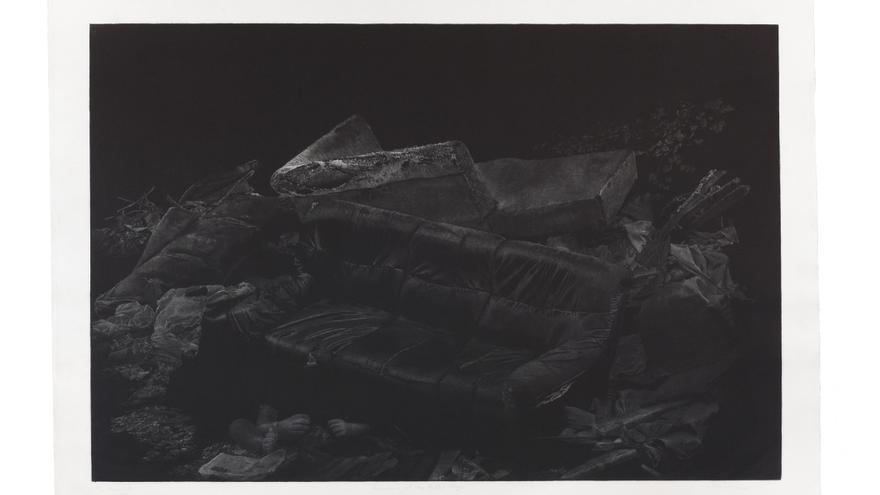 Obra ganadadora del 'Premio Internacional de Arte Gráfico Carmen Arozena 2017. Título: 'The remains of the painful things'. Autor: Warranutchai Kajaree.