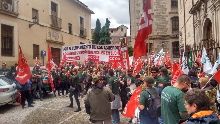 Manifestación Agentes Medioambientales en Toledo