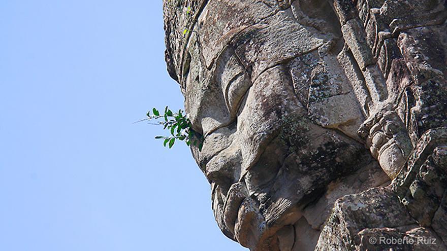 El templo de Bayon en Angkor, Camboya
