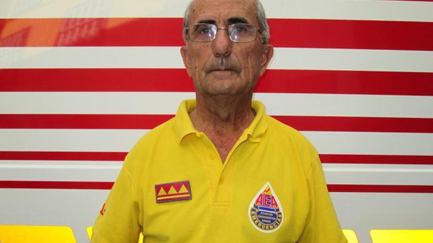 Dominicano Yanes, Chano, delegado en La Palma de  Ayuda en Emergencias Anaga (AEA).