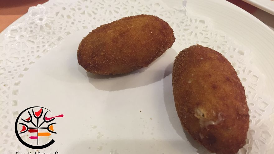 'Croqueta de jamón'. Alborada Restaurante