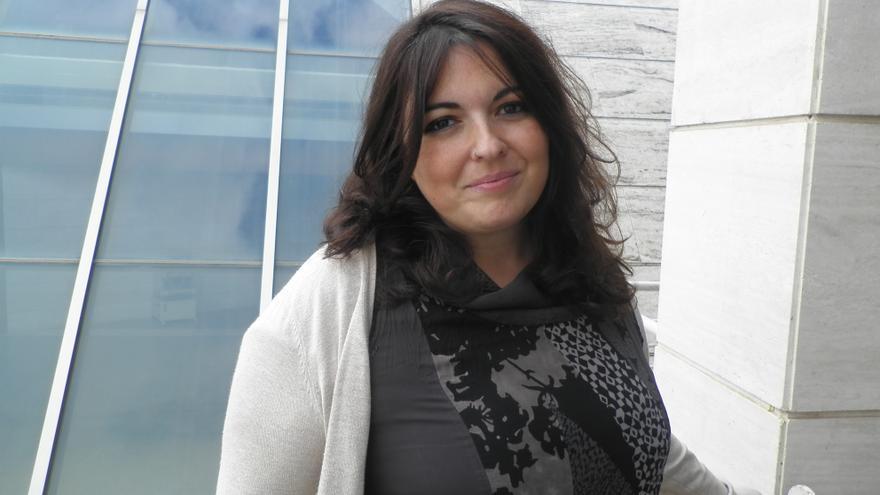María Coll, candidata a la secretaria general de Tenerife por Claro que Podemos.