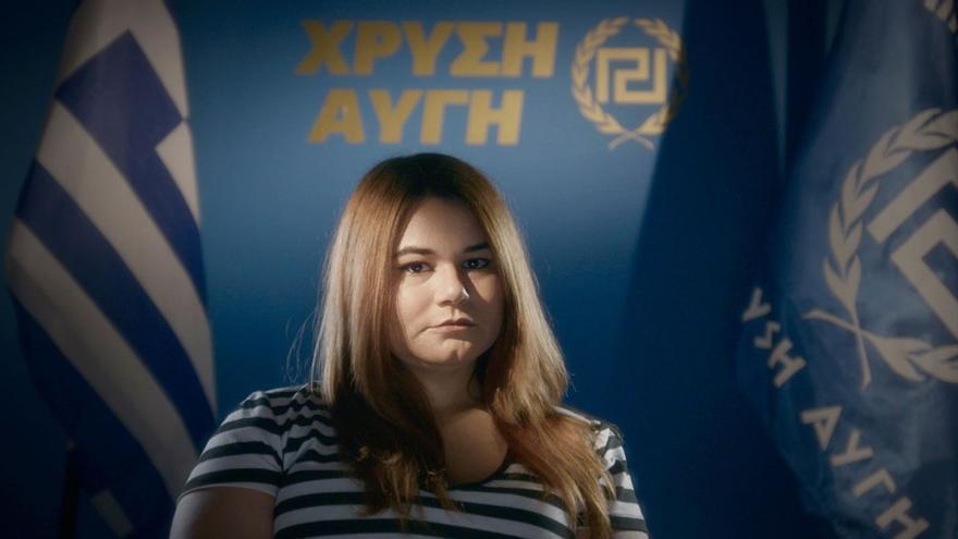 Urania, la hija del líder Michaloliakos, y una de las tres protagonistas del documental