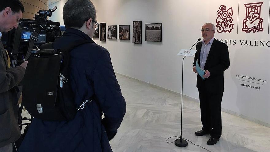 El síndic de Podem en las Corts, Antonio Montiel