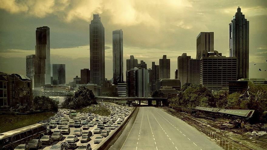 El póster de 'The Walking Dead' se convierte en realidad en Atlanta por la cuarentena