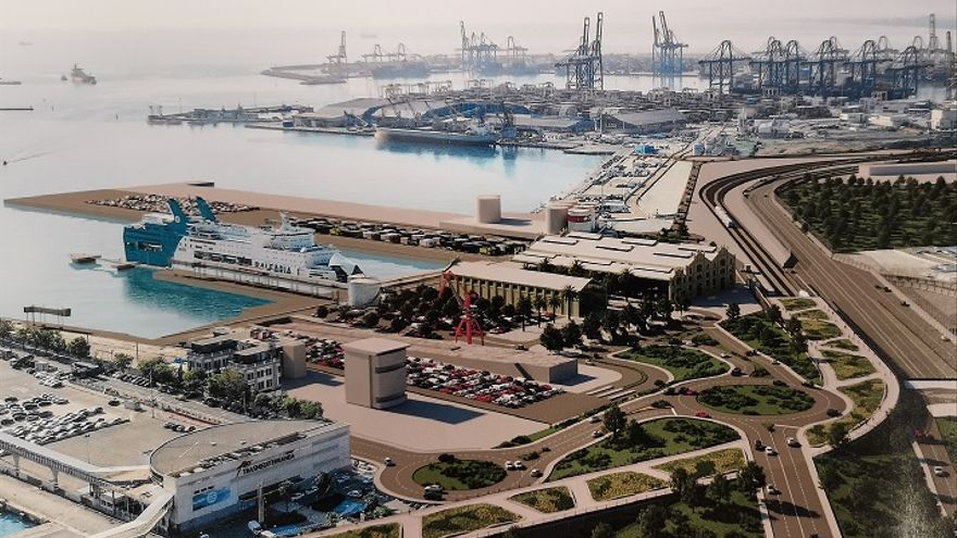 Imagen virtual de la futura terminal de cruceros