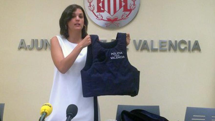 La delegada de Seguridad Ciudadana en el ayuntamiento de Valencia, Sandra Gómez