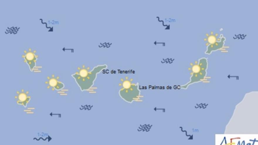 Mapa de la previsión meteorológica para el sábado 11 de marzo
