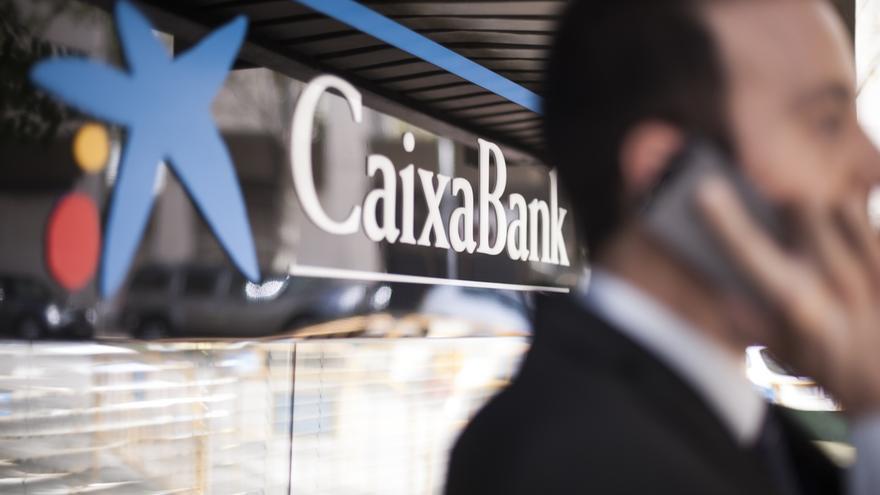 Logotipo de Caixabank.