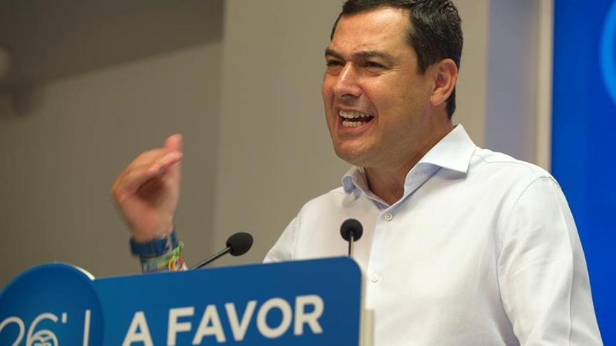 Moreno insiste en pedir a Díaz que abandone el bloqueo a un Gobierno estable del PP