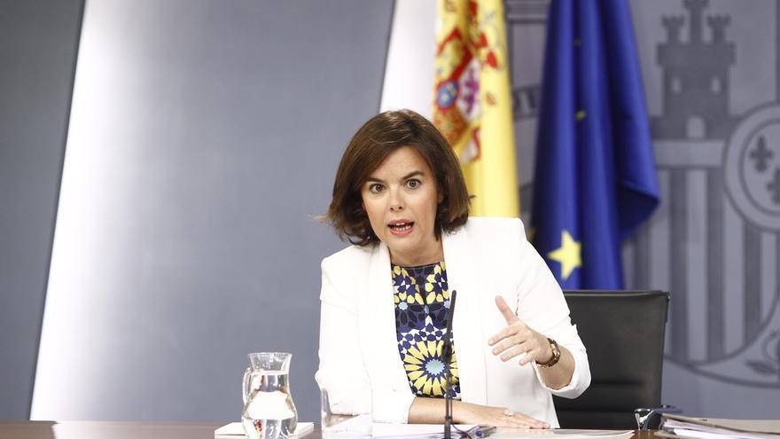 Santamaría evita pronunciarse sobre la petición de la Fiscalía de archivar la causa sobre la financiación de Podemos