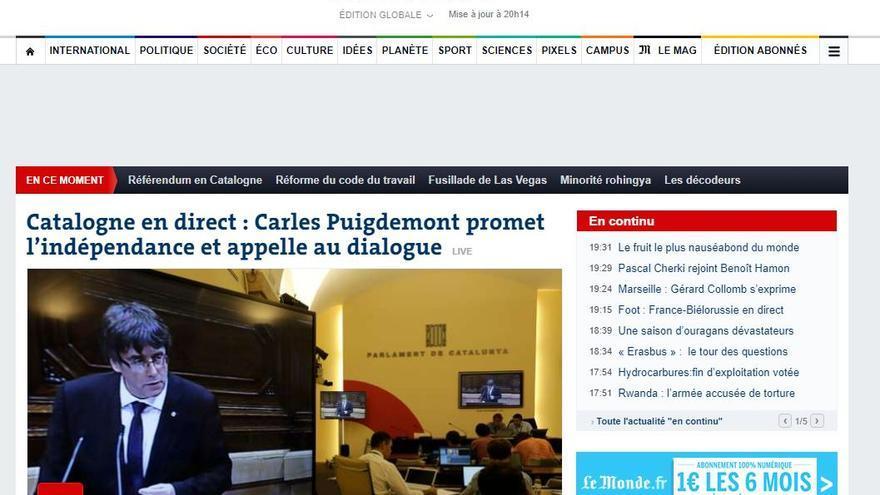 Portada de Le Monde