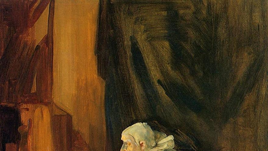 Payaso maquillándose (1910), de John Sloan