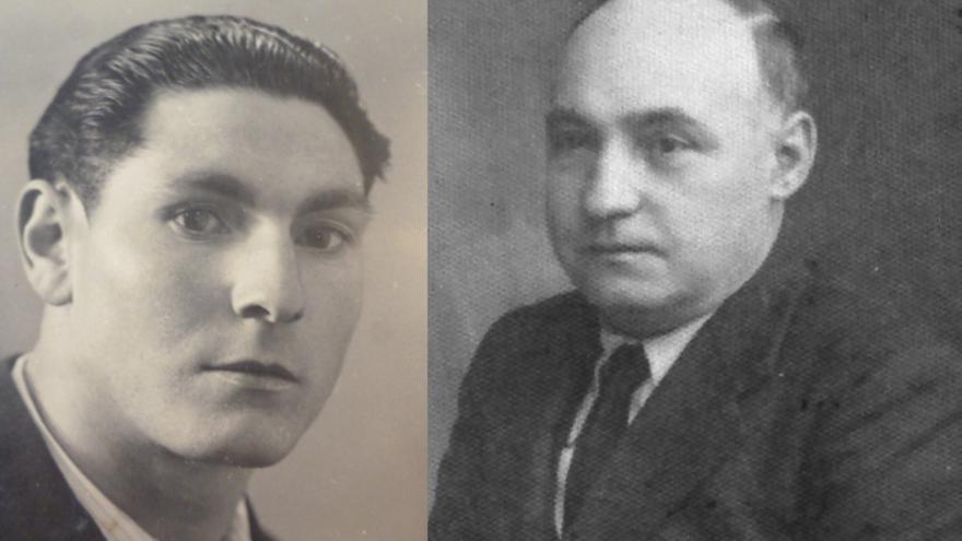 Elicio Gómez (izquierda), maestro asesinado y Abundio Andaluz, fusilado por falangistas cerca de Calatañazor.