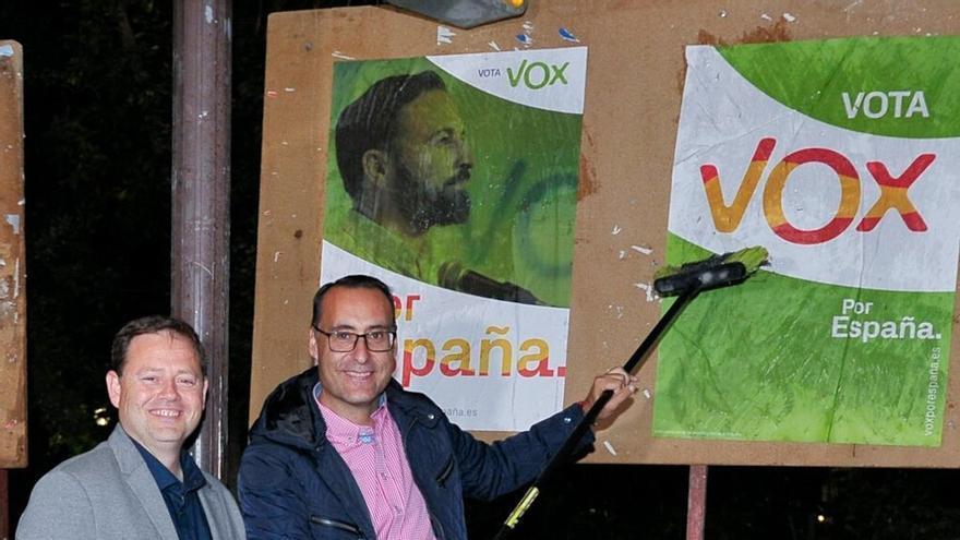 Antonio de Miguel, a la derecha, candidato de Vox FOTO: Vox Guadalajara