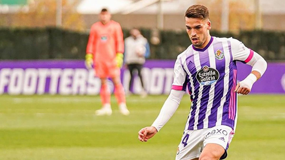 José Alonso durante un encuentro con el Valladolid