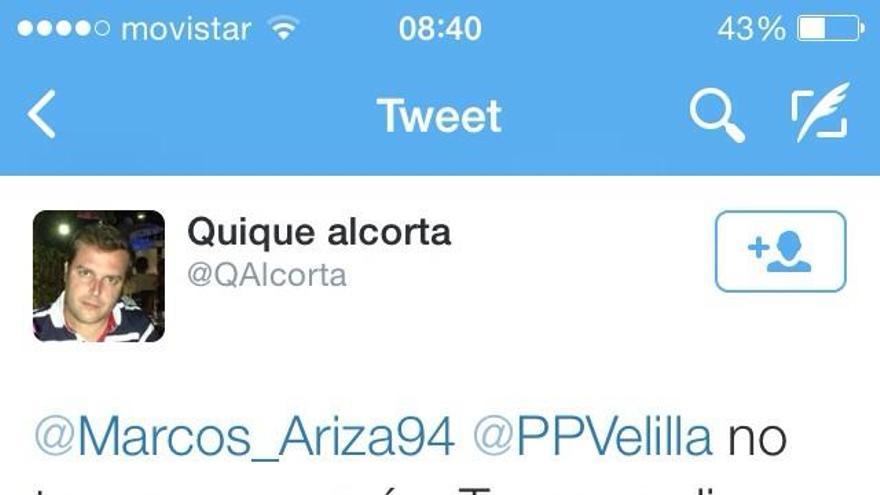 Enrique Alcorta insulta por Twitter a un antiguo militante