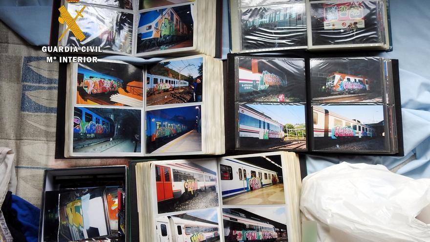 Detenido un grupo de grafiteros por daños en más de 2.000 trenes de Europa en una operación dirigida desde Cantabria