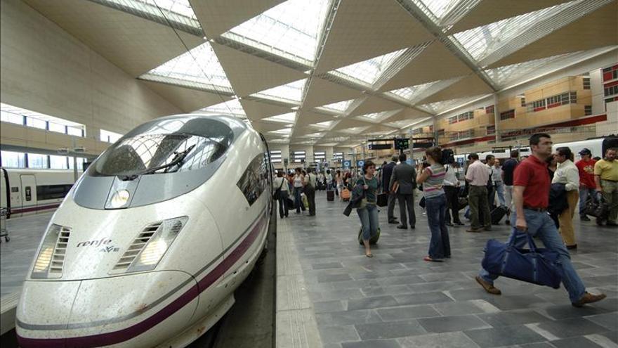 El temporal causa retrasos en las líneas de AVE Madrid-Sevilla y Madrid-Valencia