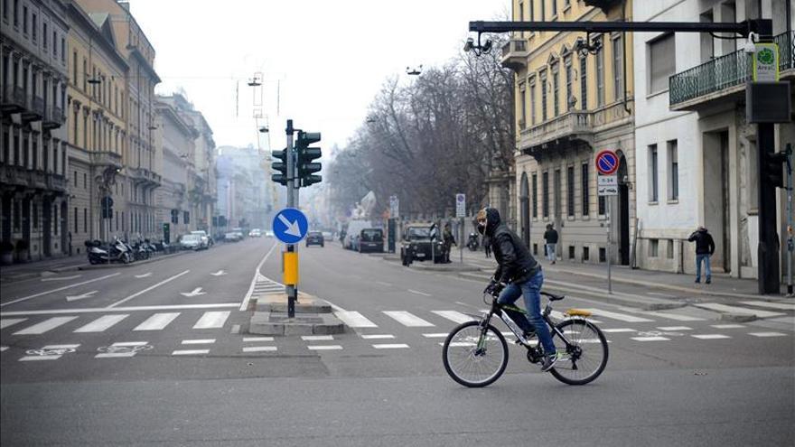 Milán y Roma mantienen bloqueo y límites al tráfico por la contaminación
