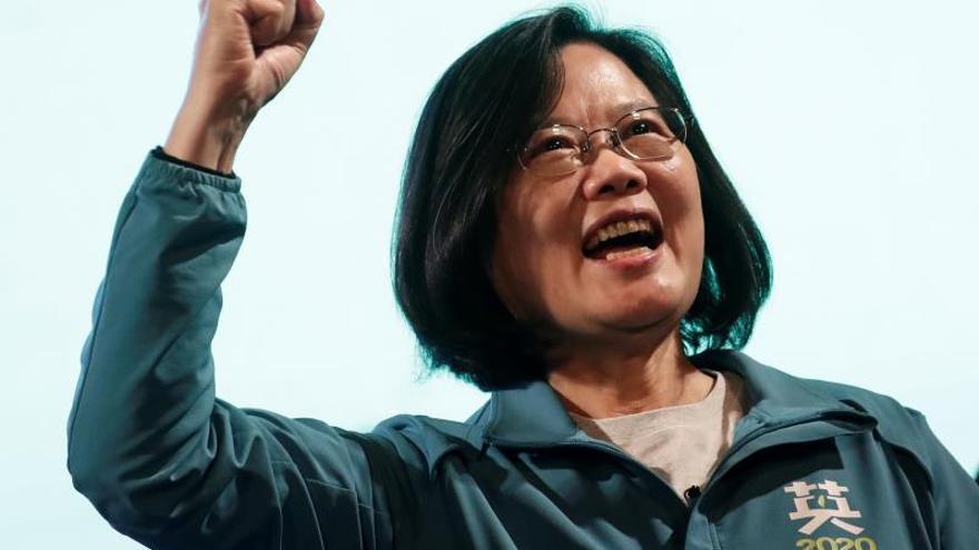 Tsai Ing-wen parte como favorita para revalidar su cargo al frente de Taiwán