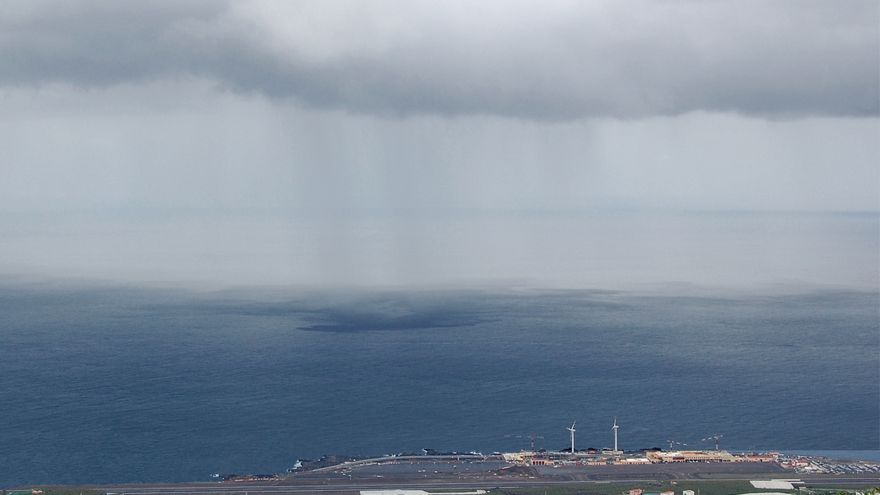 Nuboso en el este La Palma.