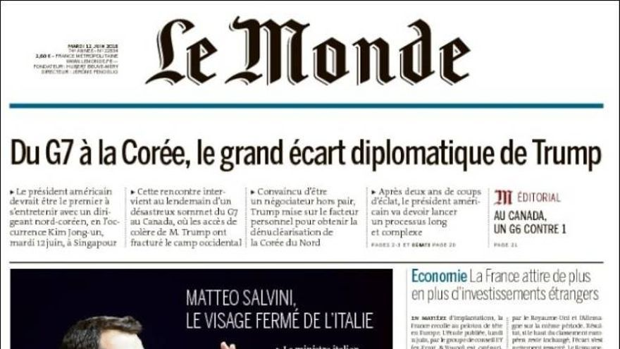 Portada Le Monde 12 de junio.
