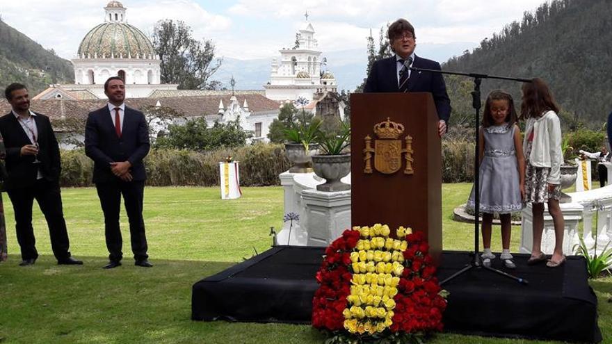 España celebra la fiesta nacional en Quito con visita de Moreno en el horizonte