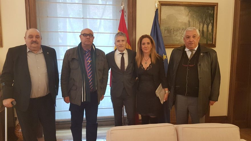 El ministro Grande Marlasca recibió el pasado 5 de noviembre a una representación de la AJPNE