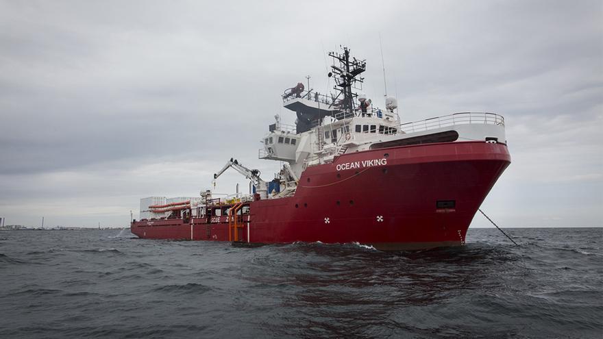 El Ocean Viking, nuevo barco de búsqueda y rescate de MSF y Sos Mediterránee