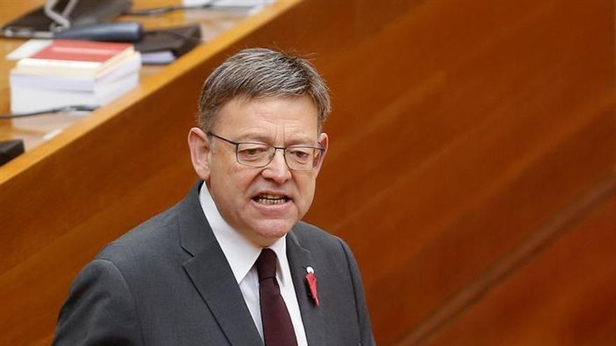 El president Ximo Puig en les Corts Valencianes