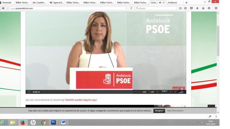 Susana Díaz en el comité director del PSOE-A.