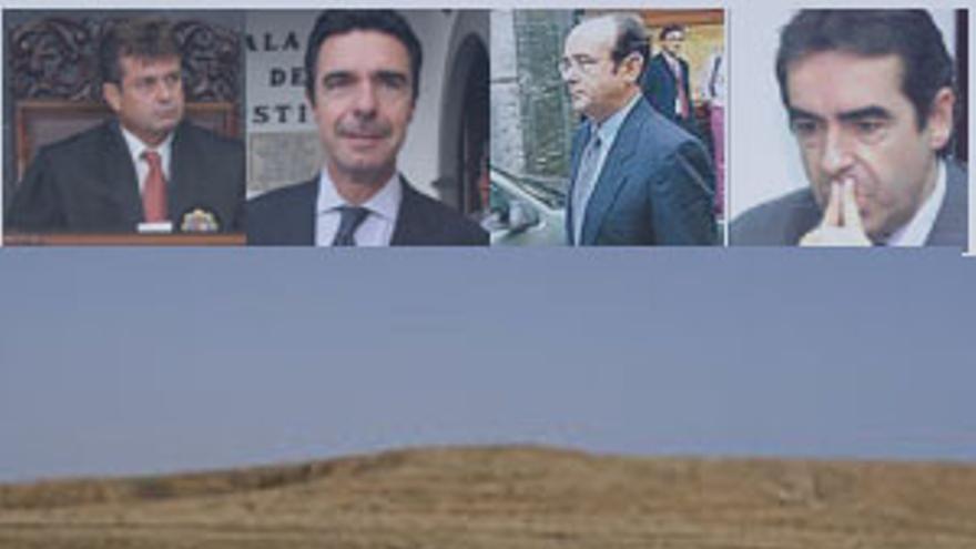 Algunos de los protagonistas en la trama del 'caso Tebeto'