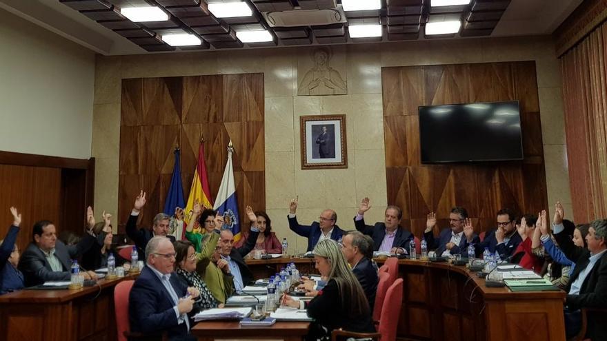 Votación de los presupuestos del Cabildo este miércoles.
