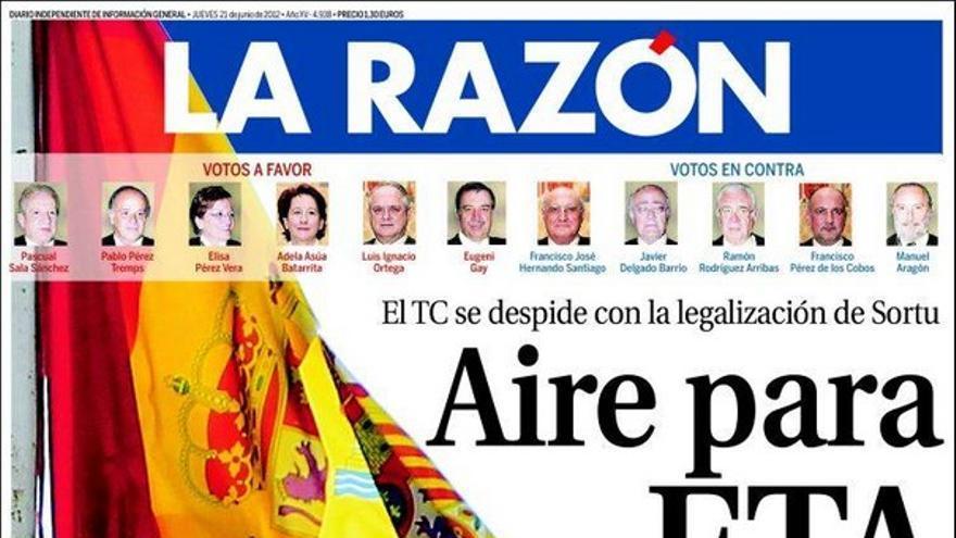 De las portadas del día (21/06/2012) #10