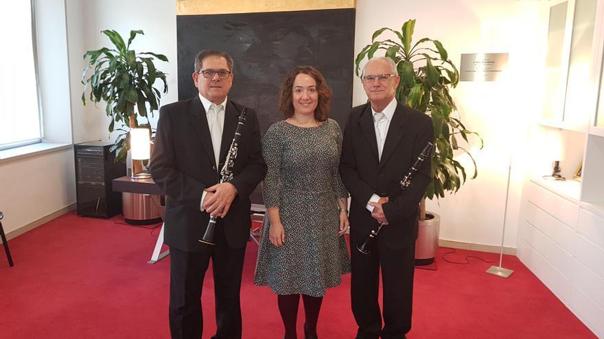 La presidenta del Palau de la Música junto a José Alamá y Juan Faubel